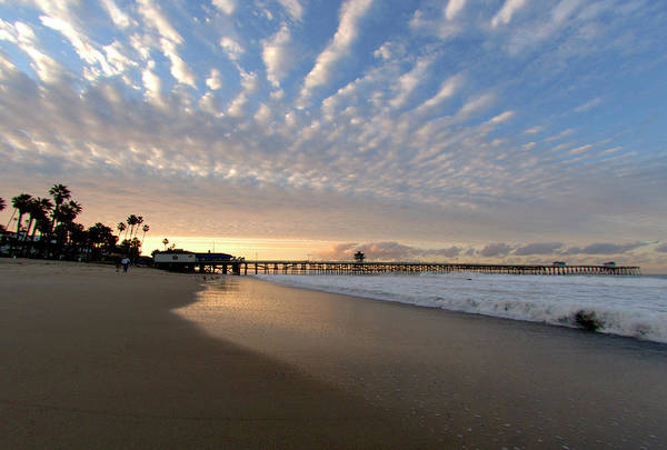 Wall Art - Photograph - Winter Sunrise At The Pier by Frank Ritenour