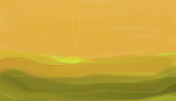 Digital Art - Winter Sunrise by Kae Cheatham