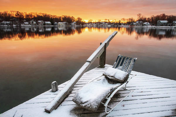 Photograph - Winter Sunrise On Gull Lake No. 2 by Mary Lee Dereske