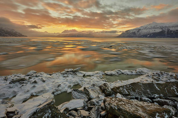 Wall Art - Photograph - Winter Sunrise On Turnagain Arm by Tim Grams