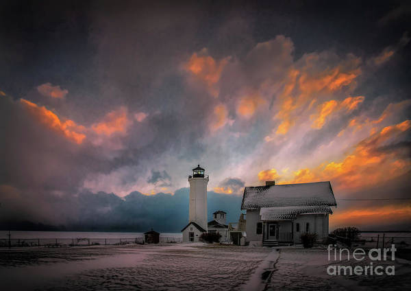 Photograph - Winter Sunset At Tibbett's Point by Roger Monahan