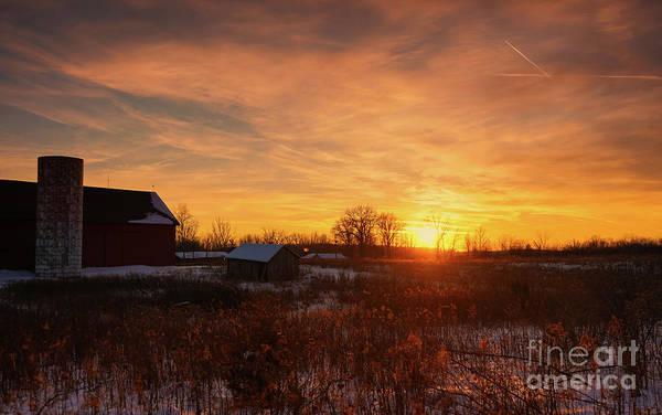 Photograph - Winter Sunset Blessings by Rachel Cohen