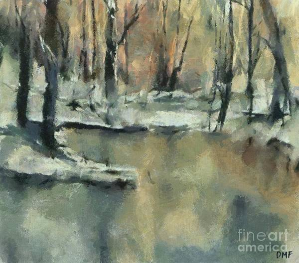 Wall Art - Painting - Winter Sunset by Dragica Micki Fortuna