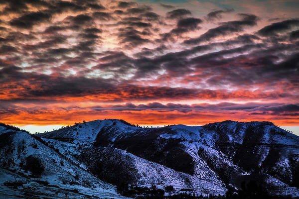 Photograph - Winter Sunset In Golden, Colorado by Jeanette Fellows