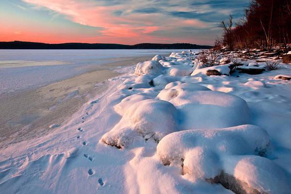 Wall Art - Photograph - Winter Sunset On Frozen Lake by Michael Gadomski