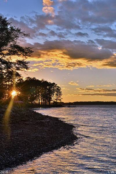 Photograph - Winter Sunset On Lake Murray South Carolina by Lisa Wooten