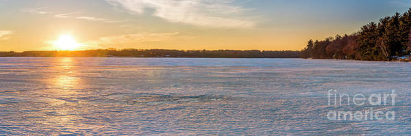 Wall Art - Photograph - Winter Sunset Over Ice by Twenty Two North Photography