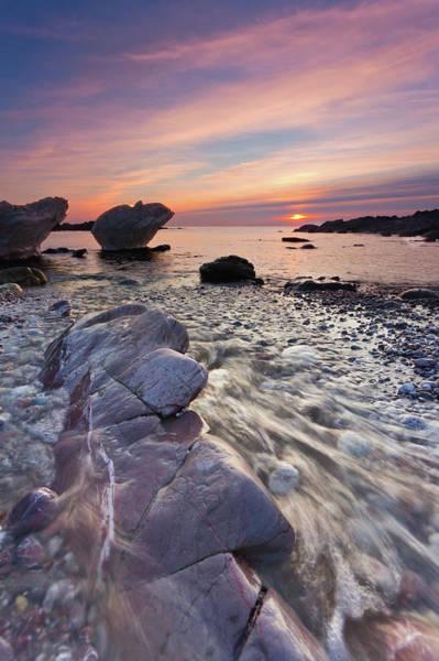 Plymouth Rock Photograph - Winter Sunset by Paul Wynn-mackenzie Photography