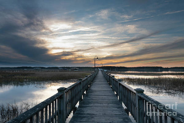 Photograph - Winter Sunset - Wando River by Dale Powell