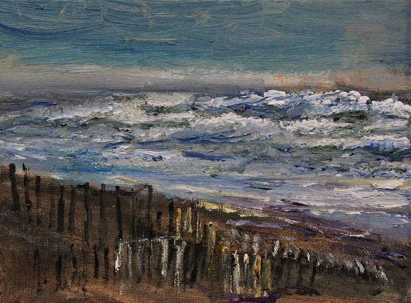 Painting - Winter Surf At Sandy Neck by Michael Helfen