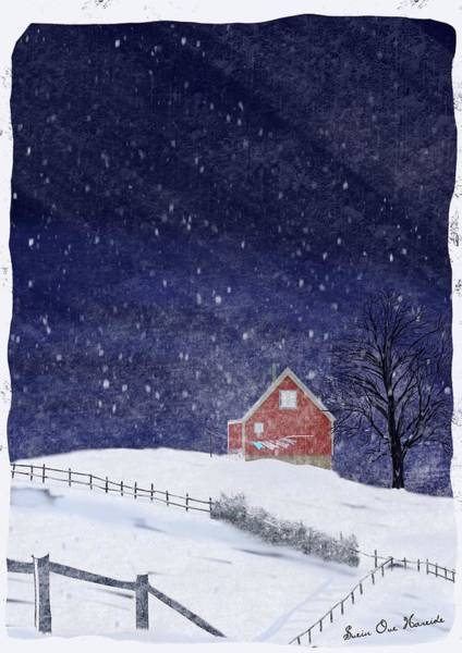 Snow Fence Digital Art - Winter by Svein Ove Hareide