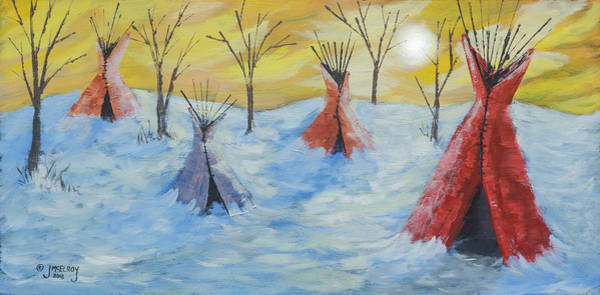 Wall Art - Painting - Tepee Time by Jerry McElroy