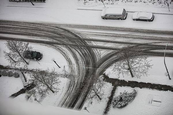 Photograph - Winter Tireprint No.1 by Juan Contreras