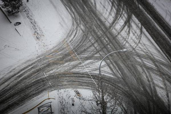 Photograph - Winter Tireprints No.5 by Juan Contreras