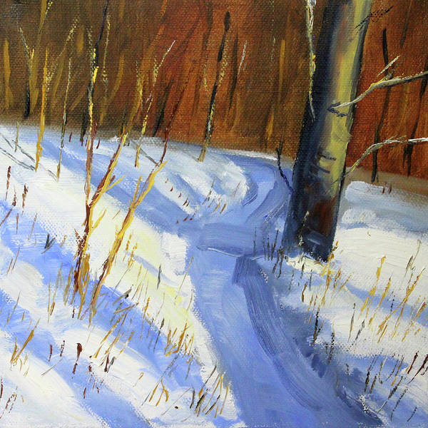 Wall Art - Painting - Winter Trail by Nancy Merkle