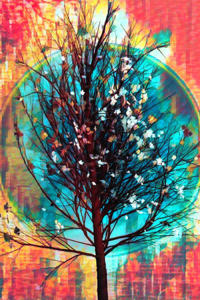 Wall Art - Digital Art - Winter Tree In African Art by Debra and Dave Vanderlaan
