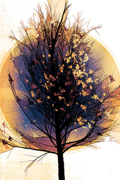 Carribean Islands Digital Art - Winter Tree In Golds  by Debra and Dave Vanderlaan