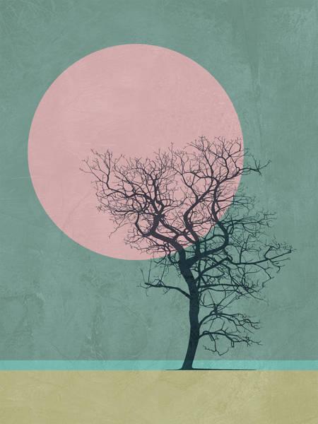 Earth Day Wall Art - Mixed Media - Winter Tree by Naxart Studio