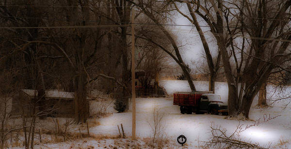 Photograph - Winter Truck by Edward Peterson