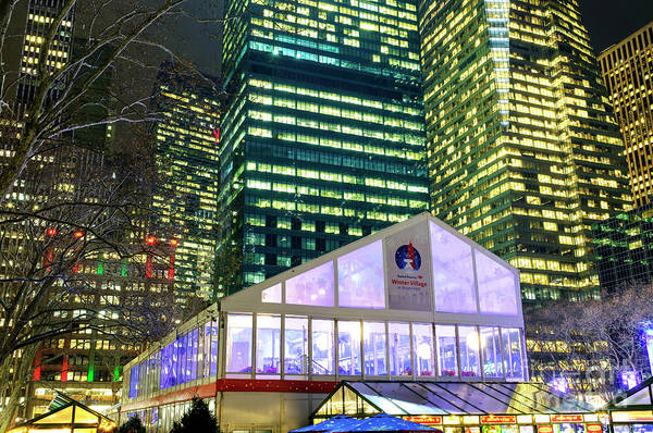 Photograph - Winter Village At Bryant Park New York City by John Rizzuto