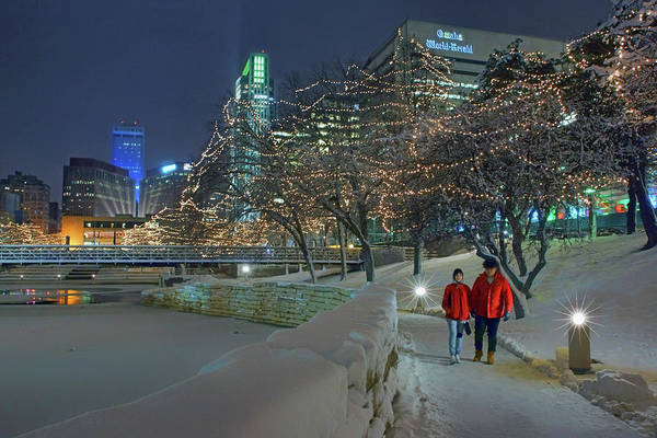Wall Art - Photograph - Winter Walk - Gene Leahy Mall - Omaha by Nikolyn McDonald
