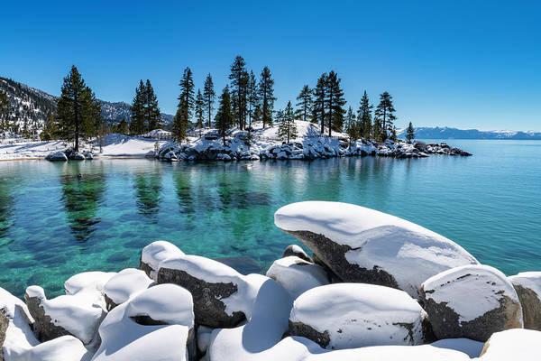 Photograph - Winter Wave - Sand Harbor Lake Tahoe By Brad Scott by Brad Scott