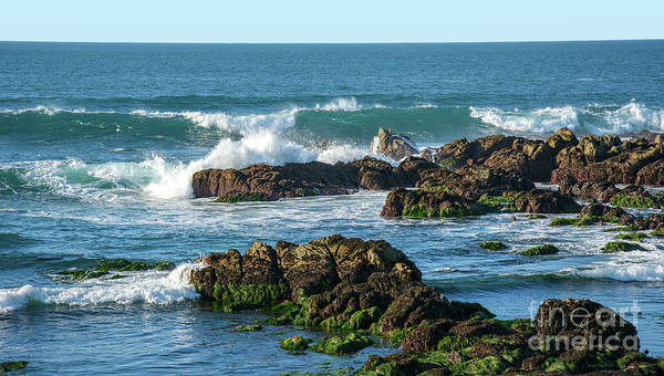 Photograph - Winter Waves Hit Ancient Rocks No. 1 by Susan Wiedmann