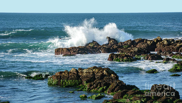 Photograph - Winter Waves Hit Ancient Rocks No. 2 by Susan Wiedmann