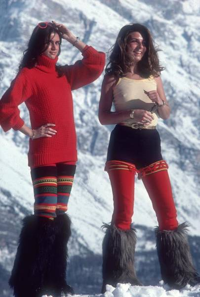 Mountain Photograph - Winter Wear by Slim Aarons