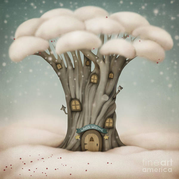 Wall Art - Digital Art - Winter Welcome by Larissa Kulik