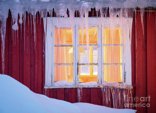 Wood Siding Wall Art - Photograph - Winter Window by Inge Johnsson