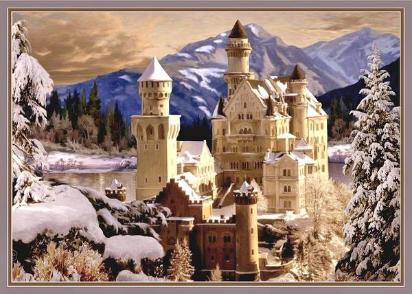Wall Art - Painting - Winter Wonder Land Card by Ron Chambers