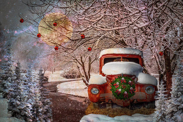 Photograph - Winter Wonderland In Hdr Detail by Debra and Dave Vanderlaan