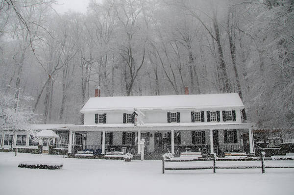 Photograph - Winter Wonderland -  Valley Green Inn - Philadelphia by Bill Cannon