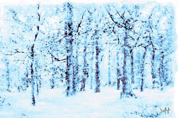 Wall Art - Digital Art - Winter Woodlands by Digital Painting