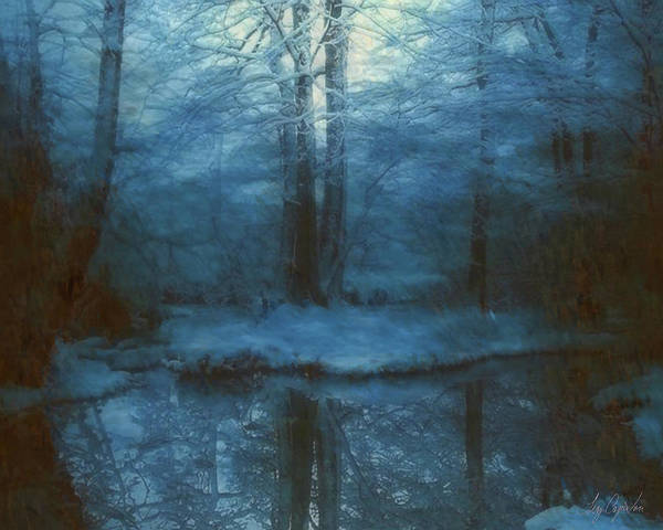 Painting - Winter Woods by Troy Caperton