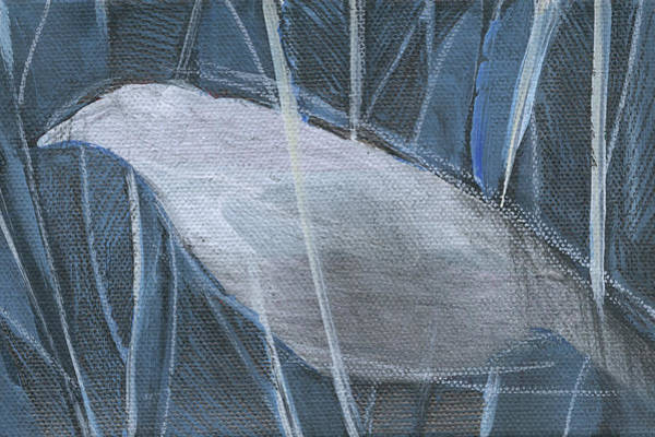 Painting - Winterbird 1 by Tim Nyberg