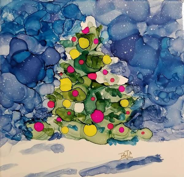 Wall Art - Painting - Winter's Christmas by Billie Colson