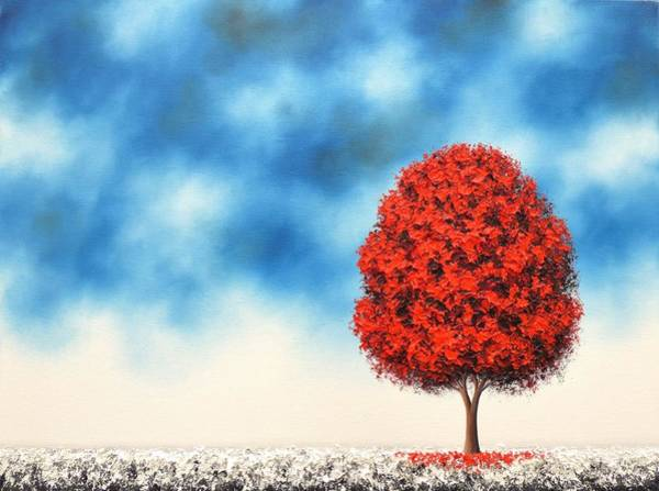 Snowscape Painting - Winter's Crossing by Rachel Bingaman