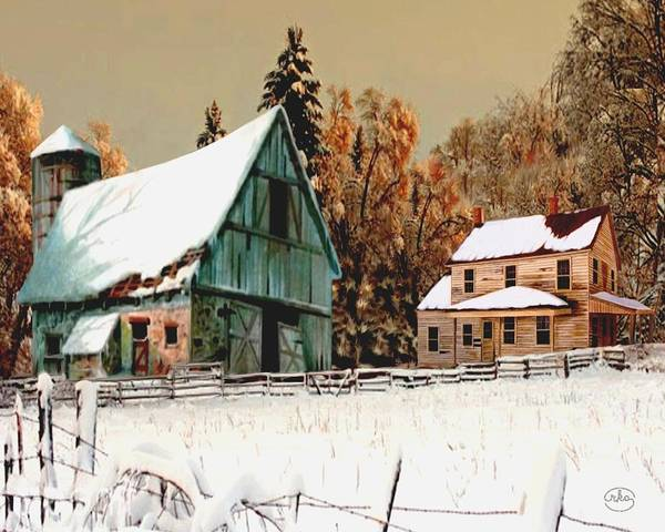 First Snowfall Wall Art - Painting - Winters First Snowfall by Ron Chambers