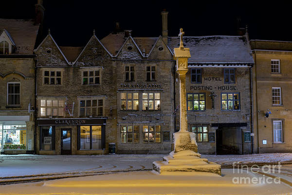 Market Place Photograph - Winters Night In Stow by Tim Gainey