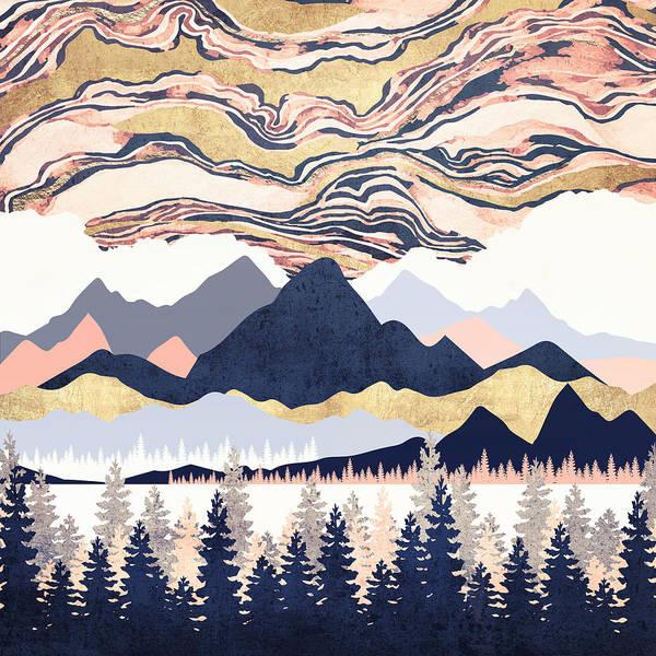 Wall Art - Digital Art - Winter's Sky by Spacefrog Designs