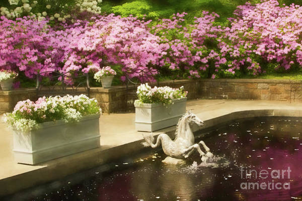 Photograph - Winterthur Spring Pond by Marilyn Cornwell