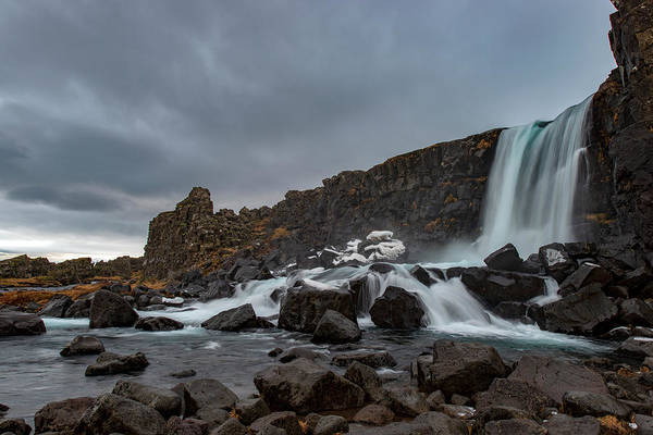 Photograph - Wintertime In Iceland's Waterfall by Dubi Roman