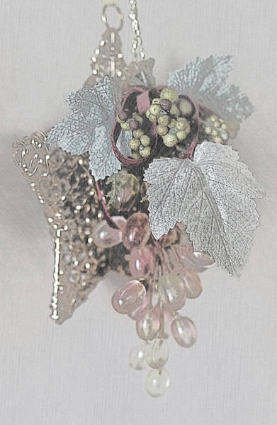 Processing Mixed Media - Wire Stars And Glass Grapes by Sherry Hallemeier