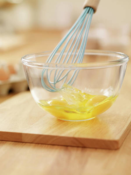 Mixing Photograph - Wire Whisk Beating Eggs In Bowl On by Adam Gault