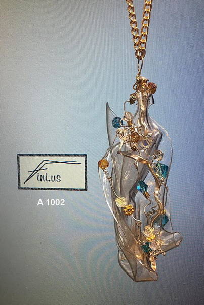 Jewelry - Wire Wrapped Pendant by Mary Russell