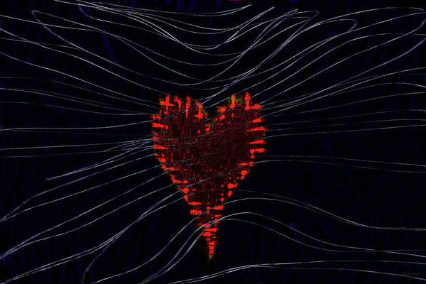 Wall Art - Digital Art - Wired Heart by Linda Sannuti
