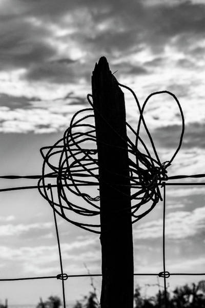 Wire Wrap Photograph - Wired Post by Jason Hughes