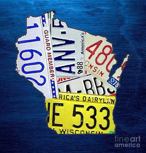 Wall Art - Mixed Media - Wisconsin by Mikebimages